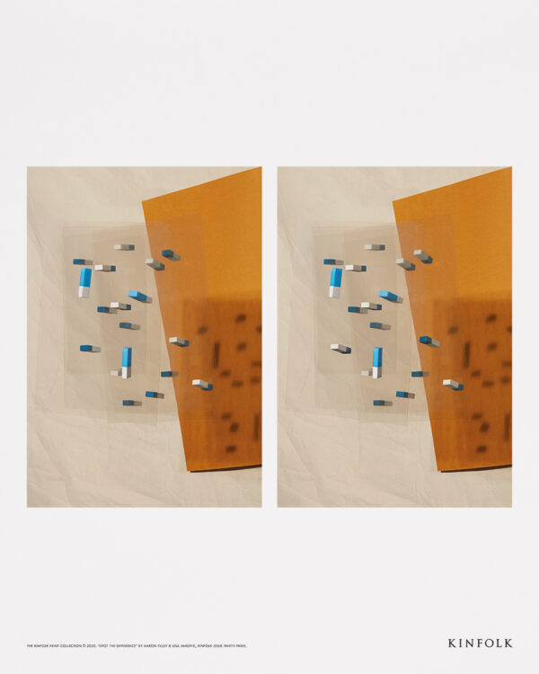 Kinfolk x Alium, Aaron Tilley - Spot The Difference